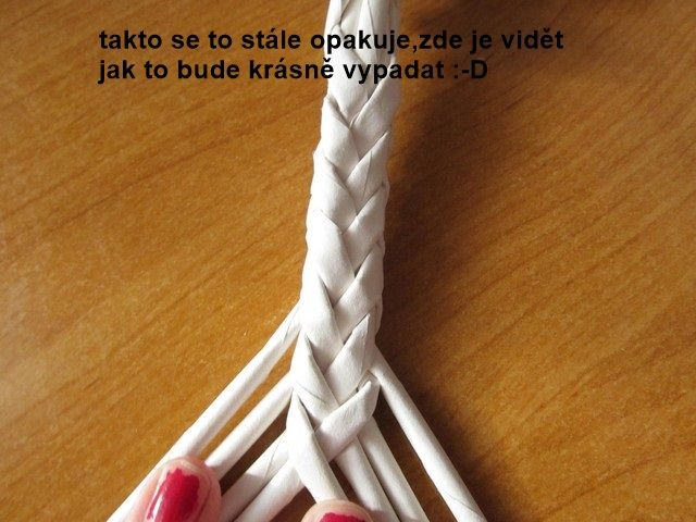 Tutorial - how to weave an 8 strand braid - Moje pletení z papíru - Fotoalbum…