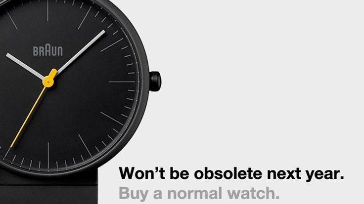 """""""Não estarão ultrapassados no ano que vem"""", provoca loja de relógios tradicionais"""
