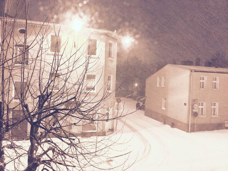 #winter #snow #storm #night #city #lights #snowing #dark #white