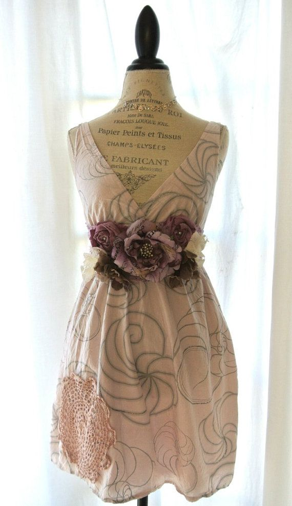 Lilac dress country chic romantic clothing by TrueRebelClothing, $68.00