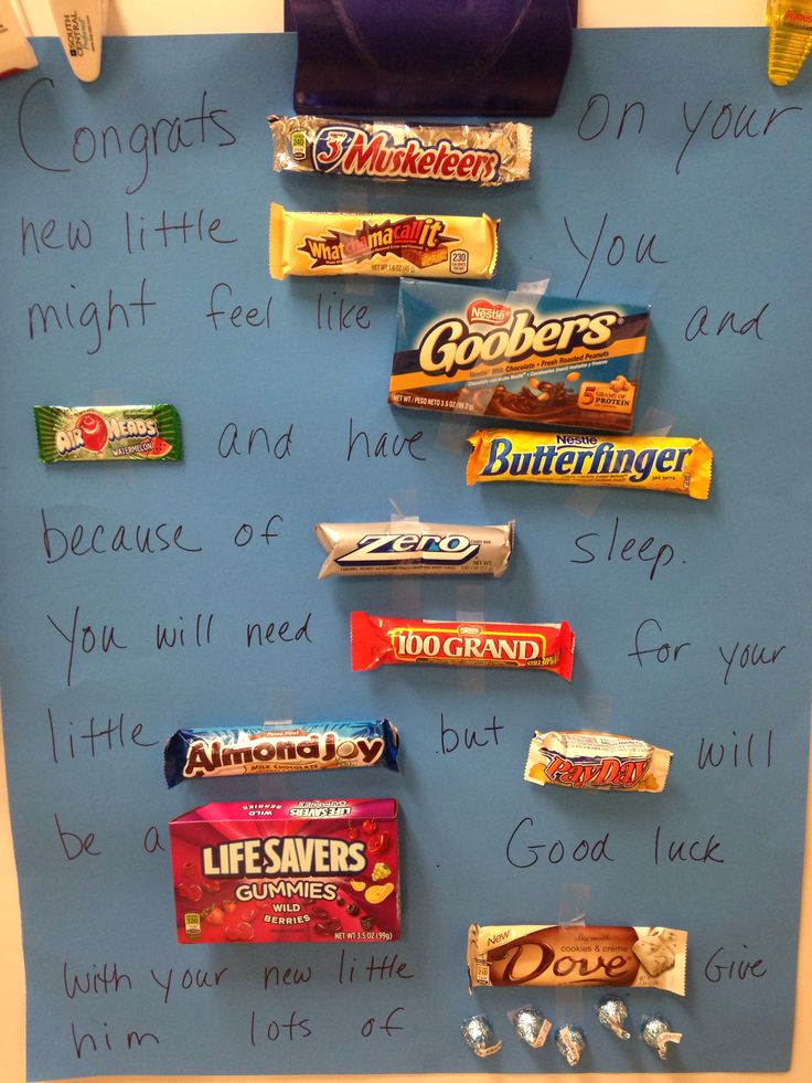 Baby shower candy bar poem