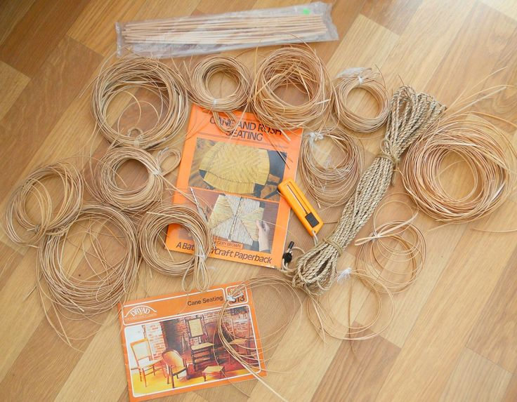 VINTAGE BUNDLE OF CANE FOR CHAIR SEAT MAKING & ACCESSORIES ~ SOLD ON MY EBAY SITE LUBBYDOT1