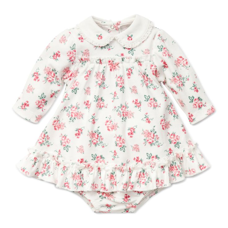 """Baby Girl Floral Dress- """"Chateau Rose Dress with Panty"""""""