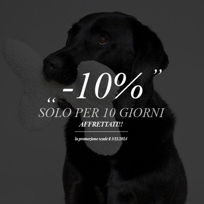 -10% DI SCONTO SOLO PER 10 GIORNI http://www.coco-pei.com/it/offerte/  #cocopei   #accessoripercani   #doglover   #doglovers   #cani   #cuccioli   #cocopeicom   #dogaccessories