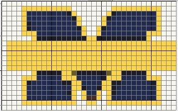 University of Michigan Logo Pattern
