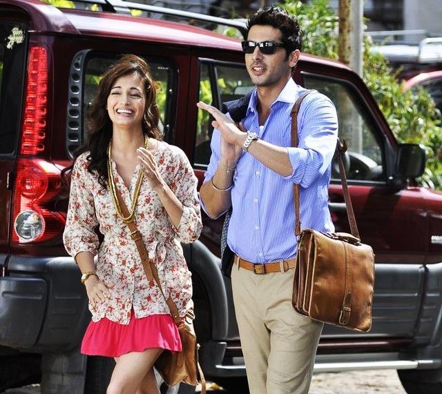 Zayed Khan carrying Hidesign bag - Bolton in Love Breakup Zindagi.