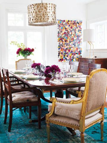 A Rug Is Quick Way To Make Your Dining Room Look Styled Interiors