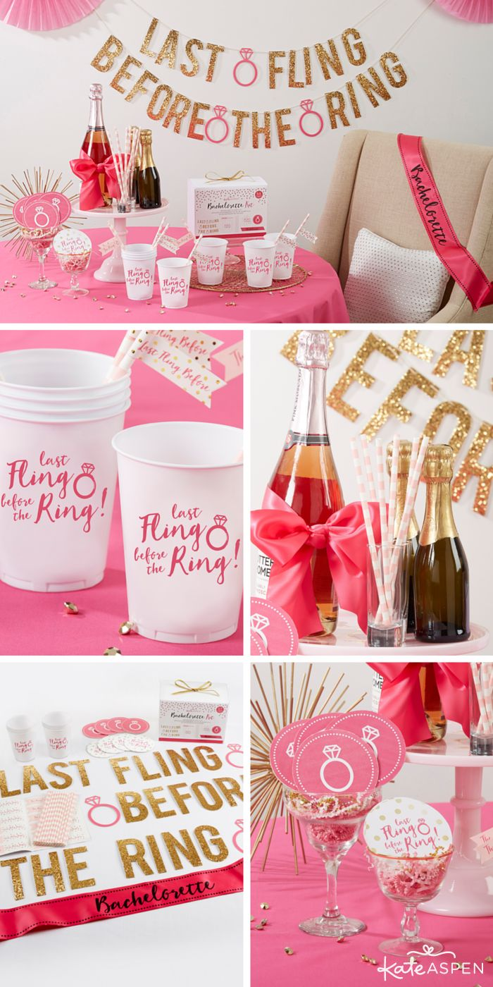 Throwing the ultimate bash is easy, especially when you have everything you need to throw her Last Fling Before the Ring. From the bride-to-be's sash to decor, keep scrolling to see how you can put together one stylish and sparkly bachelorette party! ✨