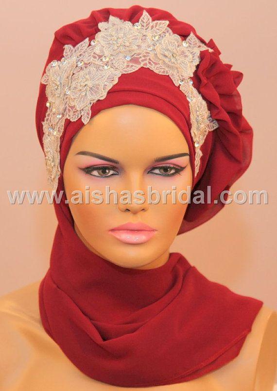Ready To Wear Hijab  Code HT0059 by HAZIRTURBAN on Etsy, $48.00