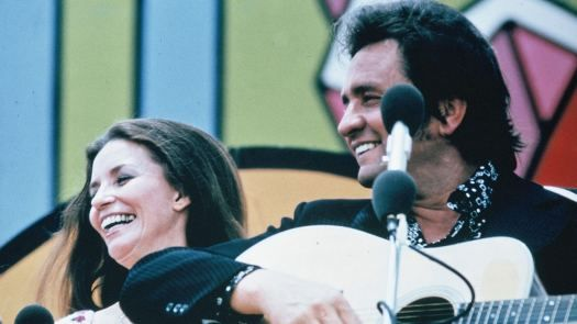 June  and Johnny Cash at Explo 72: Rally for Jesus, Dallas, Texas, June 1972