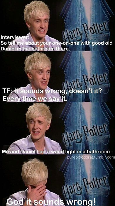 Tom Felton...Lets be best friends...please