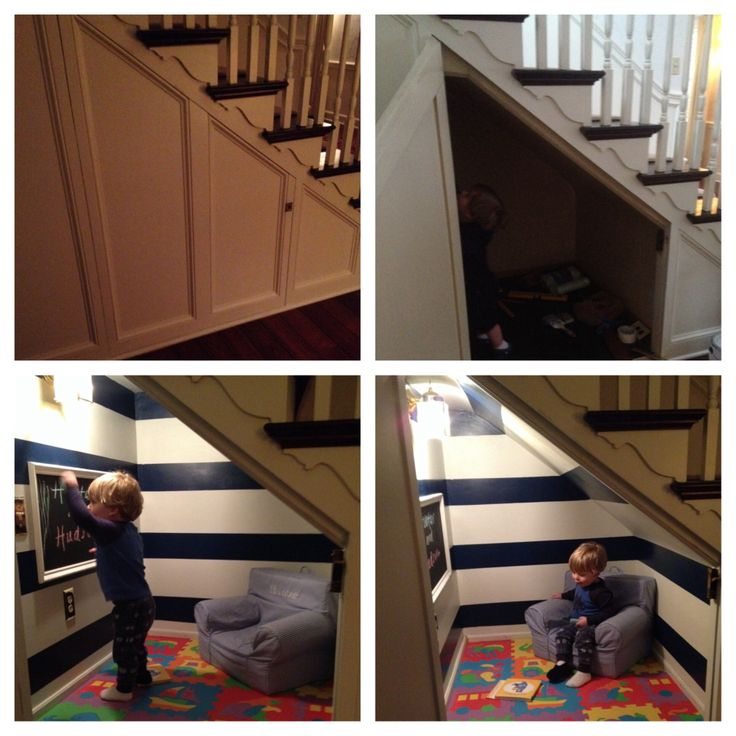 Before/After. Hideaway under the stairs.