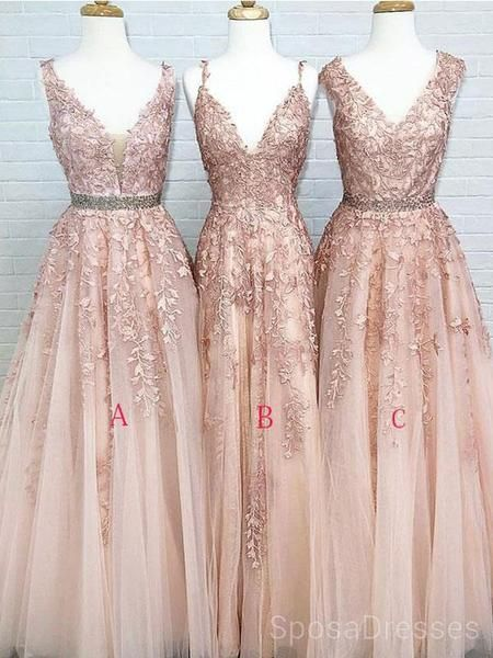 Cheap V neck A-line Lace Beaded Evening Prom Dresses, Cheap Custom Sweet 16 Dresses, 18487