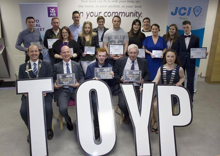 JCI Mayo awards Ten Outstanding Young People in Mayo  Des Cafferkey is an accomplished traditional Irish musician. Andrew Irwin is a final year student of Computing and Software Development at GMIT Eamonn Keaveney took on an unusual challenge in May 2016 to walk barefoot around Ireland to raise an amazing 29562.31 for Pieta House Preventing Suicide and Self Harm Helen OHara started the Love Castlebar initiative to help re build the town Ray O Malley joined the family business in 2013 Jack…