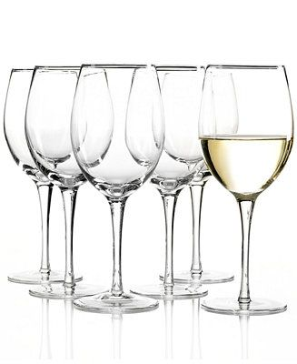 Inspired by the Tuscan appreciation for fine wine, these classic wine glasses are designed to emphasize the colors and aromas of your favorite whites. A great value, in brilliant Lenox crystal. | Crys