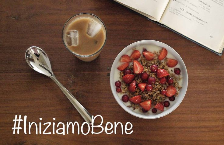 #Lunedì difficile? Serve una #colazione che dia la #carica e risvegli il #buonUmore: #caffè shakerato, #cereali e #fruttiRossi. #IniziamoBene!
