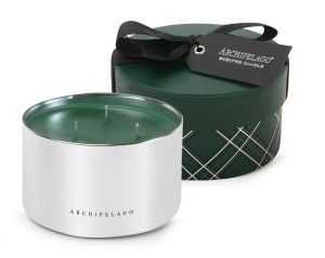 Archipelago Botanicals: Hope Candle in Round Box - The classic Traditional Holiday Hope fragrance delivers a seasonal favorite woody blend of Holiday Pine, Bayberry and Clove. Packaged in a beautiful gift box and presented in mirror-like glass, this candle is perfect to liven up any celebration! Burns for approximately 50 hours
