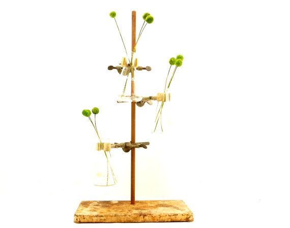 Vintage Industrial Cast Iron Lab Stand with Clamps (c.1950s) by ThirdShift - Makes  a fun display piece or industrial vase!