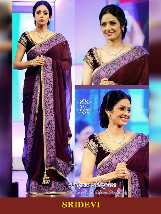 "Buy Sridevi Kapoor Bollywood Saree    Mobile Booking/What's Up/ Product Code ""Sty522"" to Order +919751633633 Free COD/Shipping in India !! Email us at- shop@migtab.com"