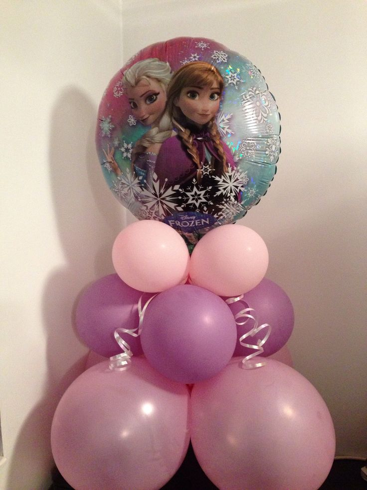 Frozen balloon display.