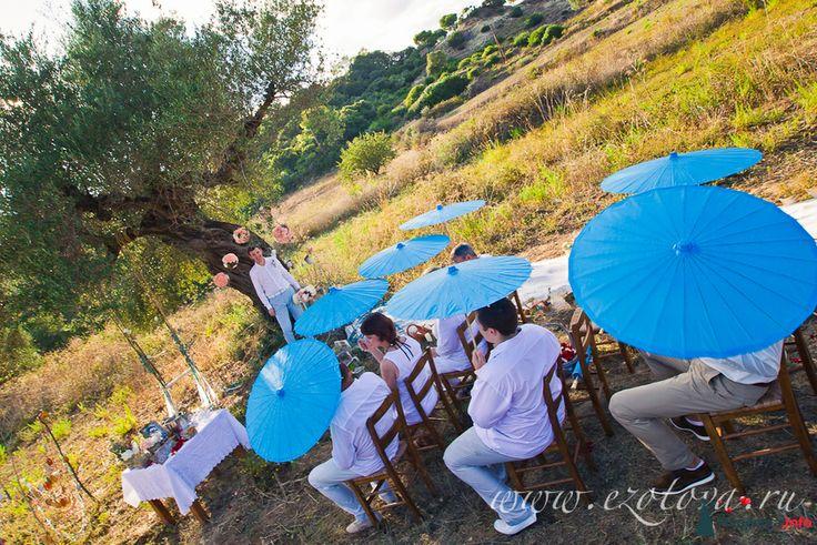 Средиземноморские свадьбы (в греческом, итальянском стиле) | Свадьбы летом | 35 Фото идеи
