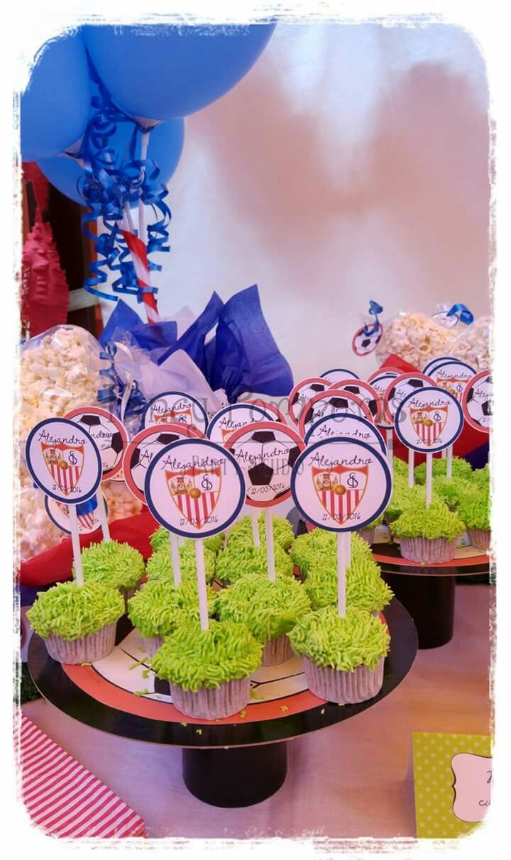 Football capaces /cupcakes de fútbol