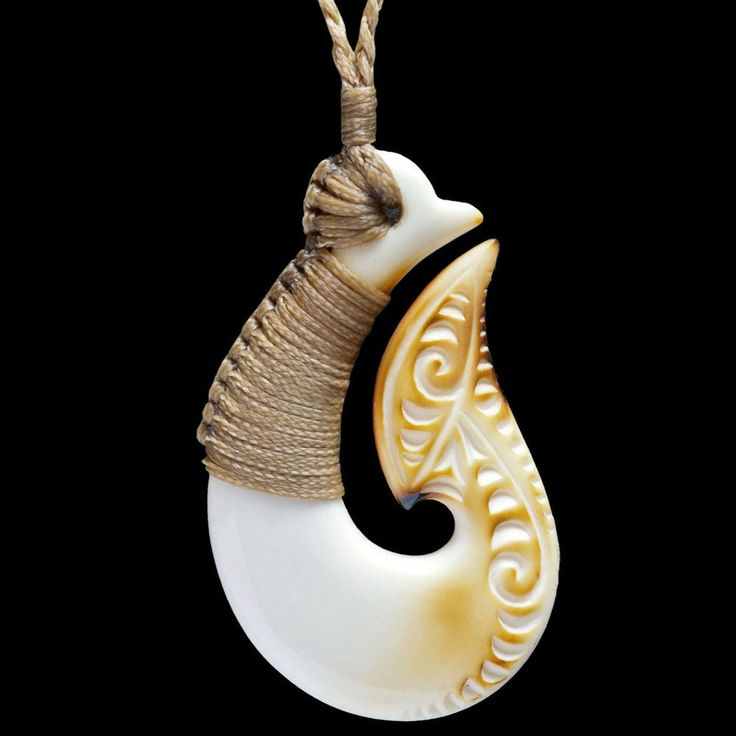 21 best maori style bone carvings and wearable art images for Fish hook necklace