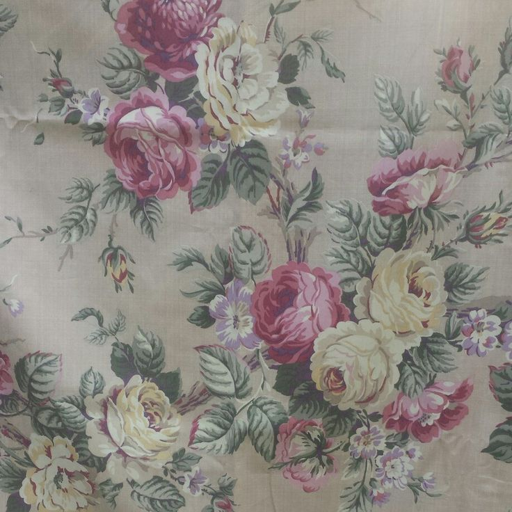 New this week these tan curtains with large cabbage roses. Perfect for a nursery or bedroom.