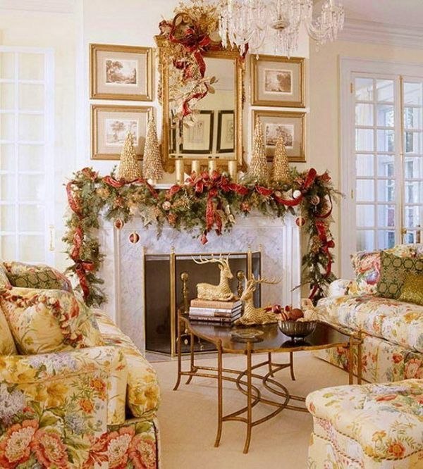 Decorated Fireplace Mantels For Christmas | Christmas Fireplace Mantel Decorating  Ideas For 2012 | Christmas