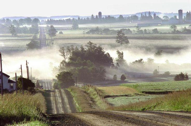 Neustadt Ontario countryside -Misty Morning, Grey County