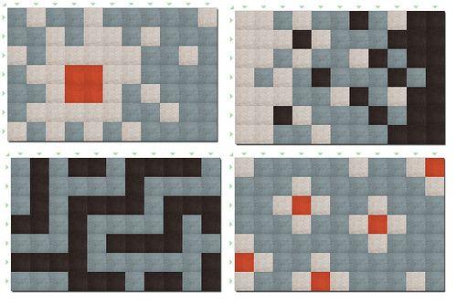 Carpet Designs made using Flor Carpet Tiles