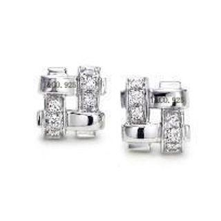 Tiffany & Co Woven Diamond Earrings