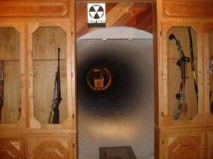 Secret Underground Firing Range Hidden Behind Sliding Gun Cabinet