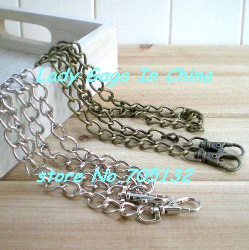 125cm silver handbag DIY chains, O shape coin purse straps/bag accessories,10pcs freeshipping