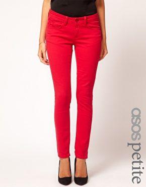 ASOS PETITE Exclusive Red Skinny Jeans