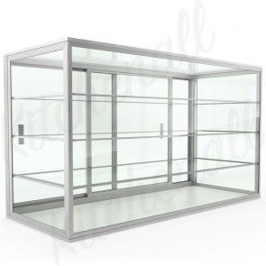 Countertop Food Display Cases Dry Non Refrigerated Glass And