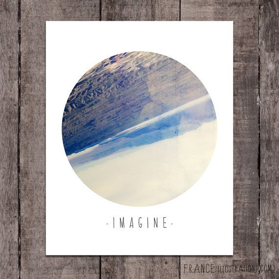 IMAGINE Wall Art /// Abstract Landscape Home by FRANCEillustration, $6.00