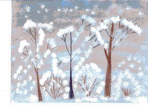 Конспект НОД по художественному творчеству (рисование пейзажа). «Сказочный зимний лес» - Для воспитателей детских садов - Маам.ру