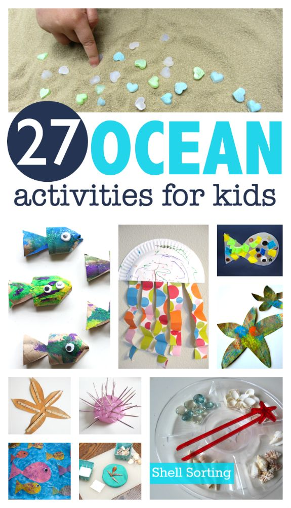 Ocean crafts and activities for kids. Great sea animal crafts and activities for preschool or VBS.