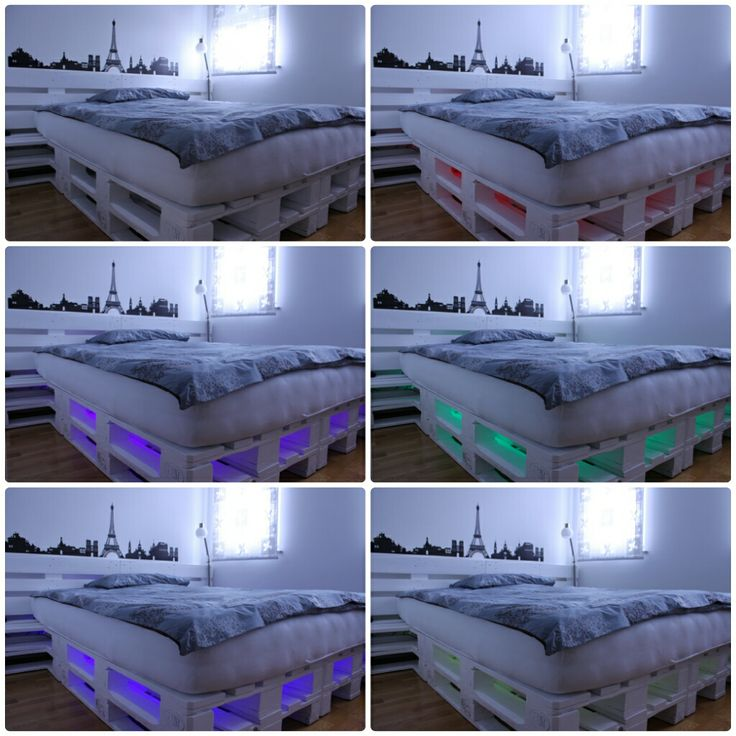 10 best my pallet bed with LED images on Pinterest | Homemade ice ...