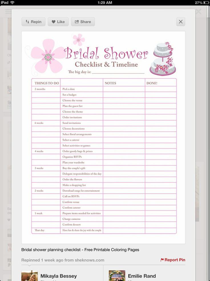 31 best Travel Themed Bridal Shower images on Pinterest Suitcase - bridal shower checklist