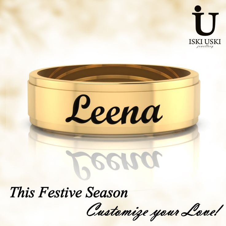 Dare to be different - our 'Leena' yellow gold band.   #GoldBand #LoveBand #Bands #IskiUski