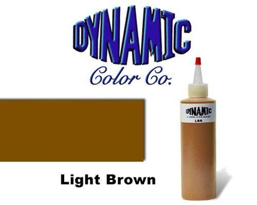 Dynamic Light Brown 1-Oz Tattoo Ink Brite Vibrant & Dark Color Supply
