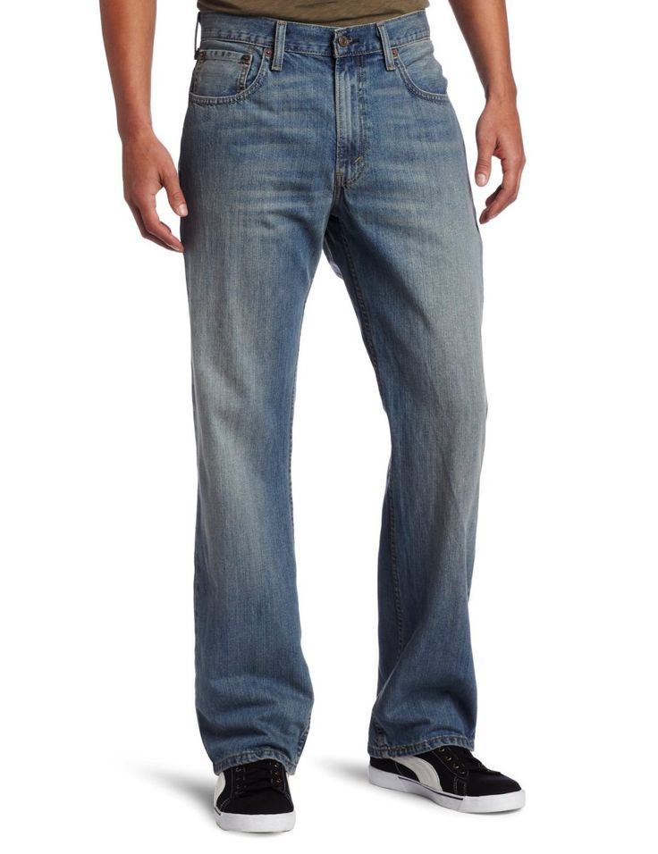 Levi\u0027s Men\u0027s 569 Loose Straight Jean, Rugged, The modern loose fit. Stay  relaxed in Levi\u0027s 569 Loose Straight Jeans. Cut low at the waist with extra  room in ...