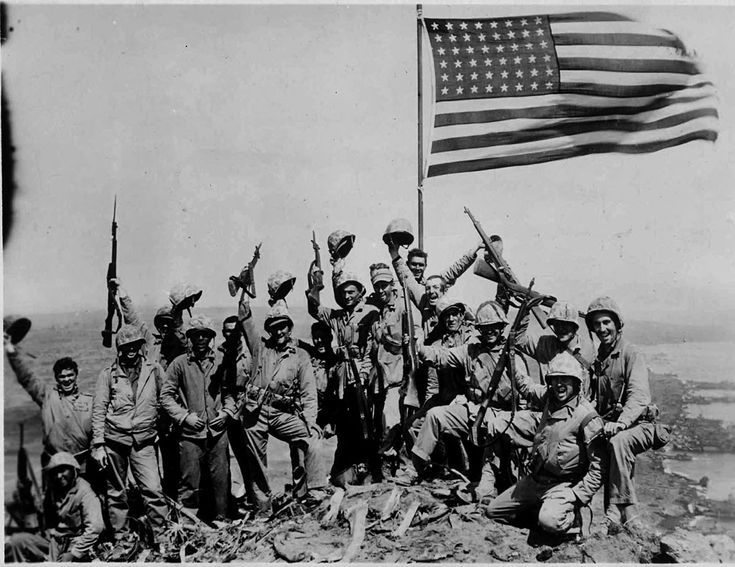 raising the american flag