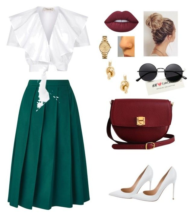 """Summer"" by kajakoralewski ❤ liked on Polyvore featuring Temperley London, Gianvito Rossi, The Code, Lime Crime, Lacoste and Balenciaga"