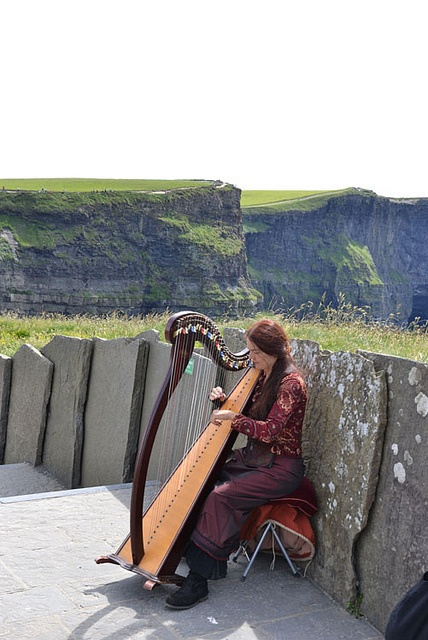 Celtic Harpist at the Cliffs of Moher, by Luana Rubin, via Flickr