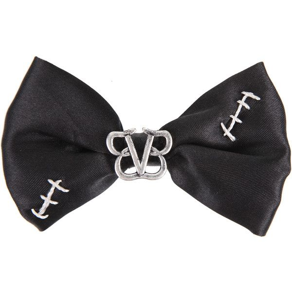 Black Veil Brides Stitches Hair Bow | Hot Topic ($6.50) ❤ liked on Polyvore featuring accessories, hair accessories, bows, black, bvb, bridal hair accessories, hair bow accessories, bride hair accessories and hair bows
