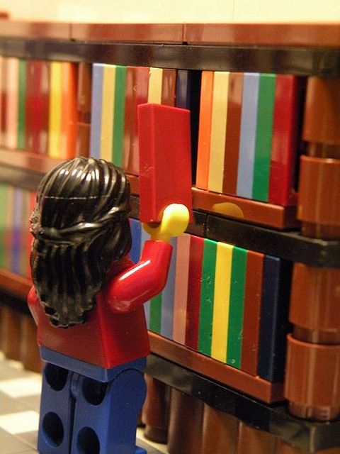 Some public libraries do a Lego day a couple times a year where kids can come in and build stuff.
