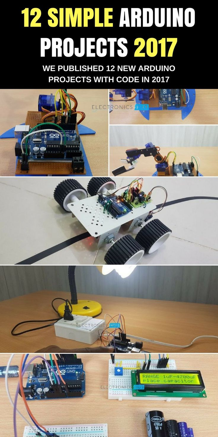 We have added 12 new arduino projects in our arduino projects page. We will add more and more projects in 2017